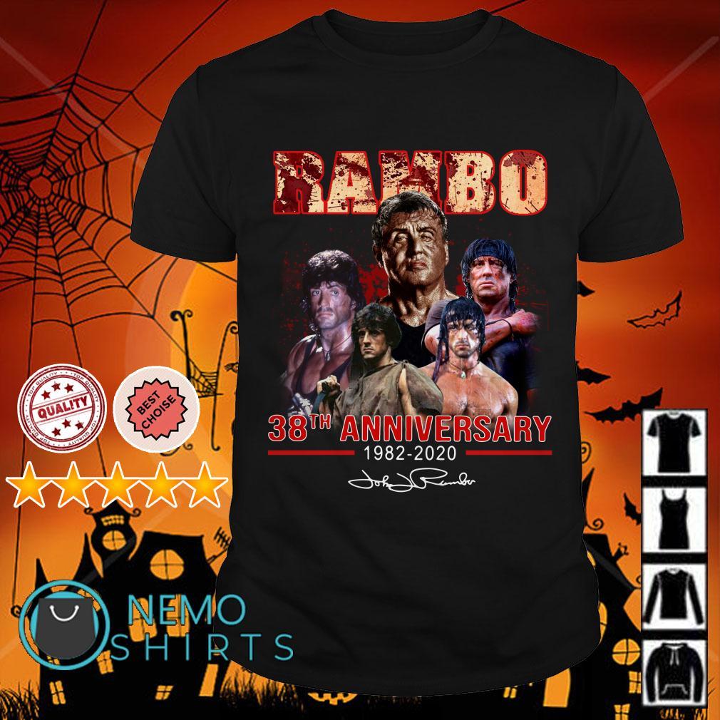 John Rambo 38th anniversary 1982 2020 signature shirt