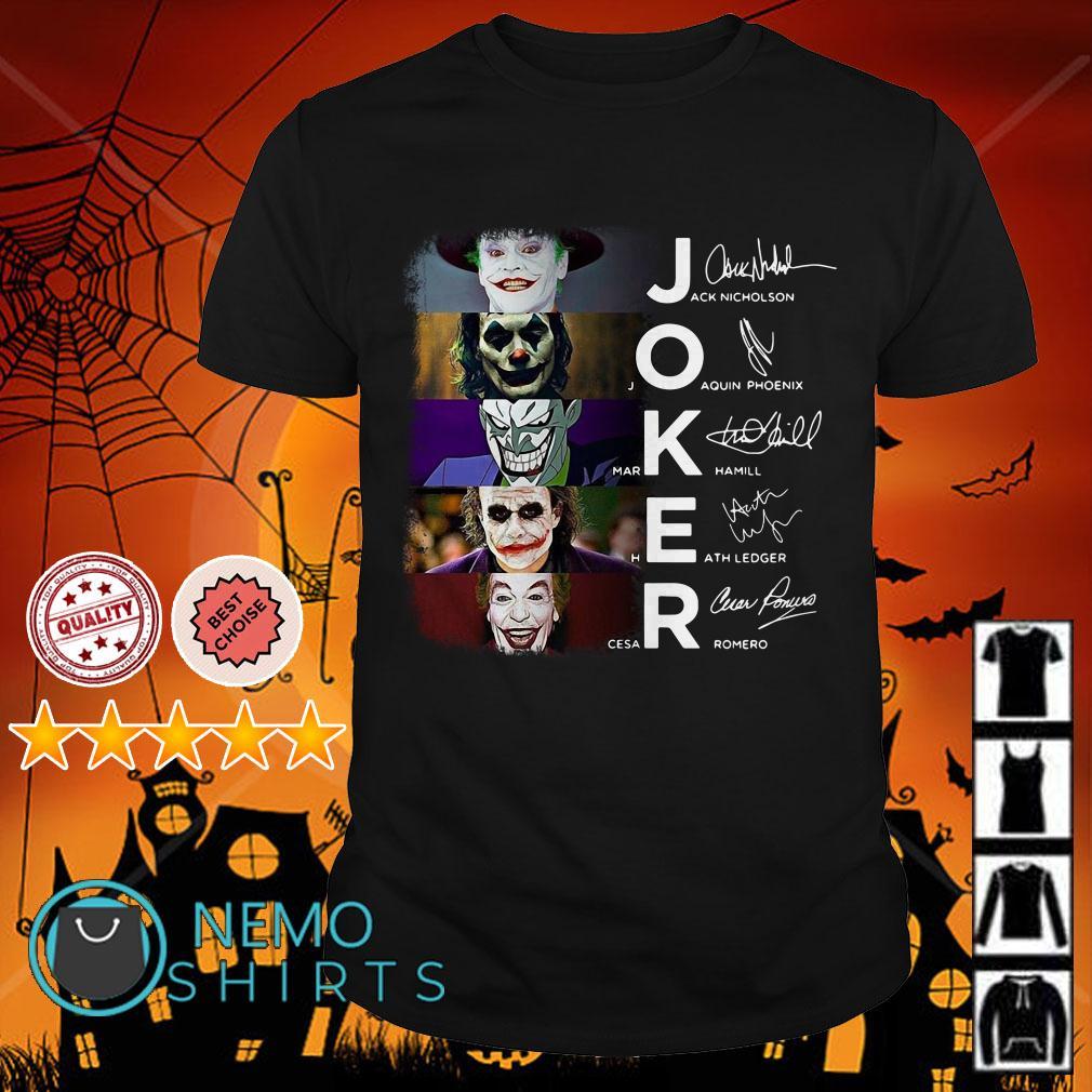 Joker Jack Nicholson Joaquin Phoenix Mark Hamill Heath Ledger Cesar Romero shirt