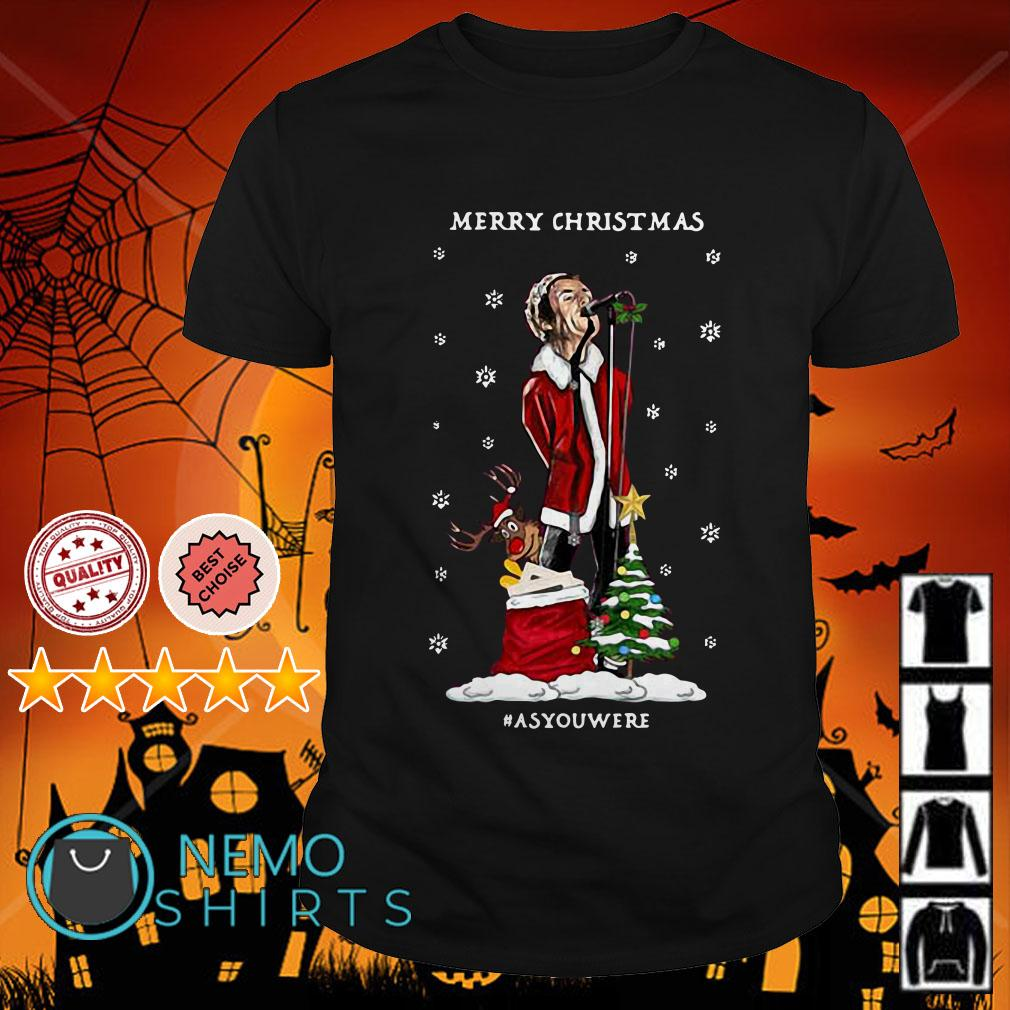 Liam Gallagher Merry Christmas #asyouwere shirt