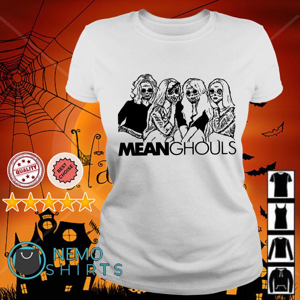 Mean Ghouls Horror movie characters Halloween Ladies tee