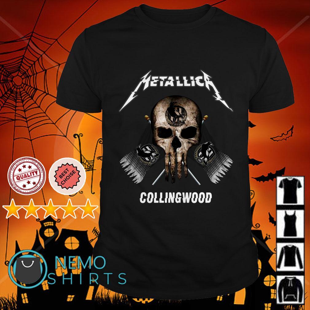 Metallica Skull Collingwood flag shirt