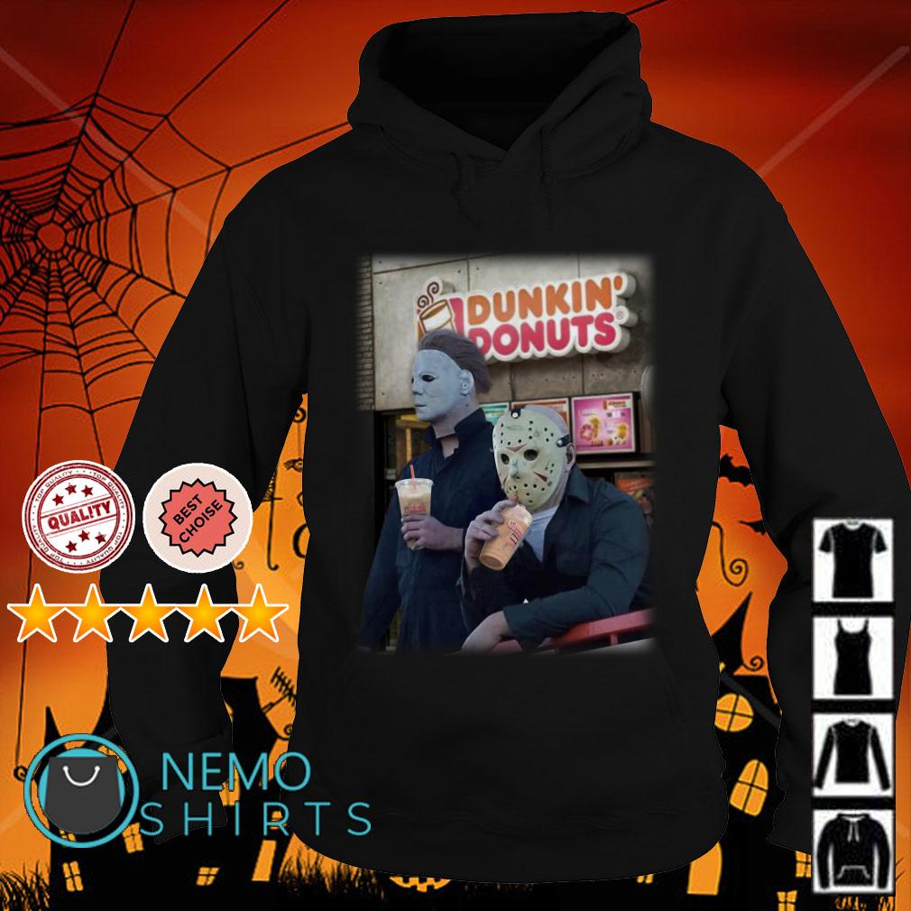 Michael Myers and Jason Voorhees drink Dunkin Donuts Hoodie