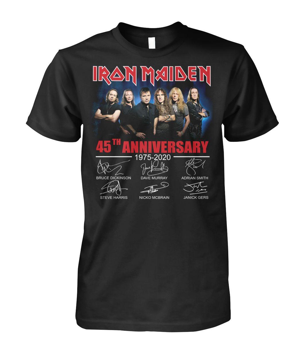 Official Iron Maiden 45th Anniversary 1975 2020 signature shirt