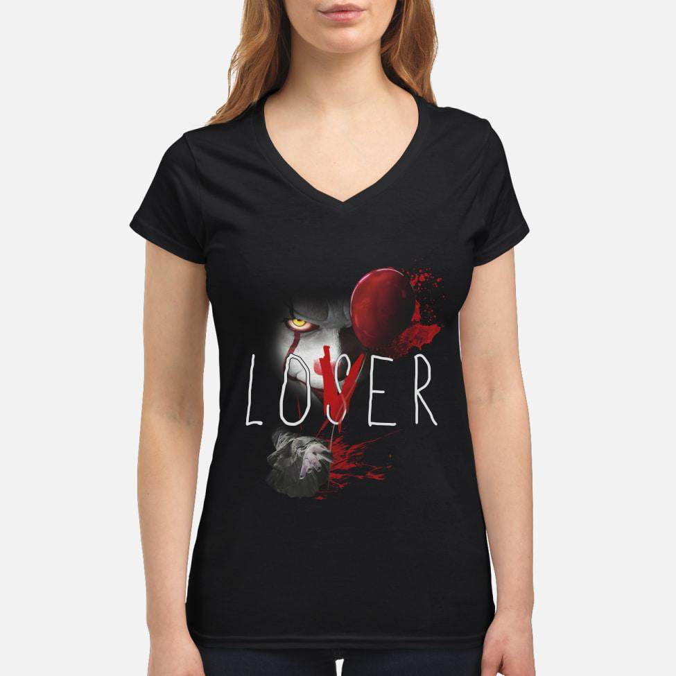 Official Pennywise It Lover Loser Halloween V-neck t-shirt