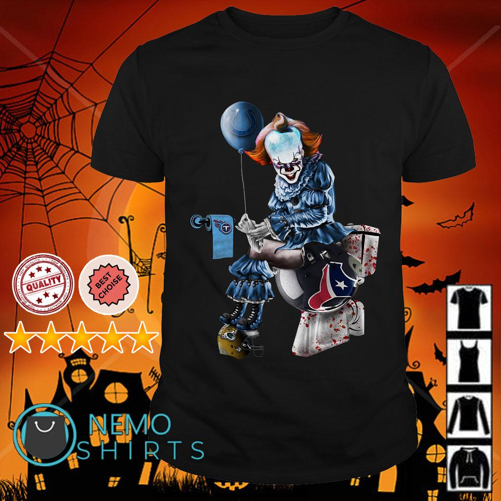 Pennywise Colts shit on Tennessee Titans trample on Texans helmet shirt