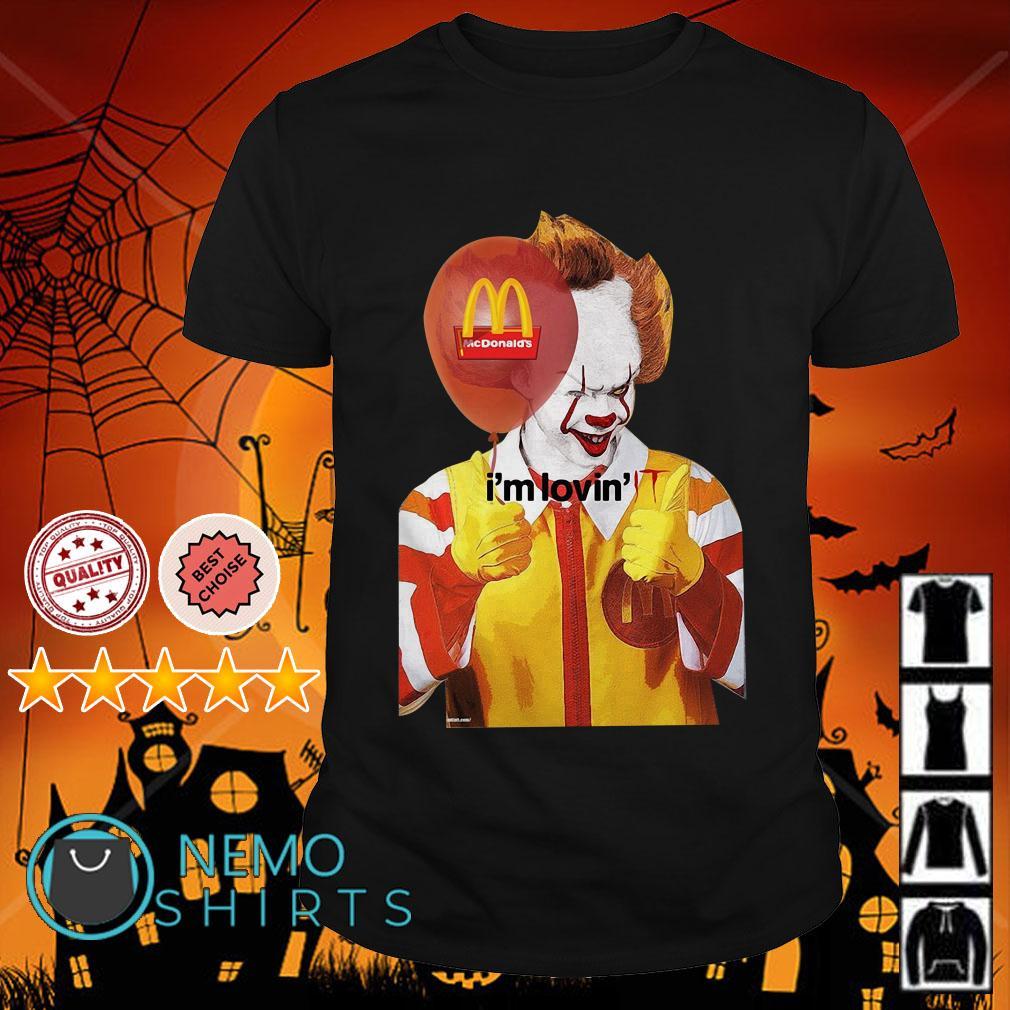 Pennywise I'm lovin' McDonald's shirt