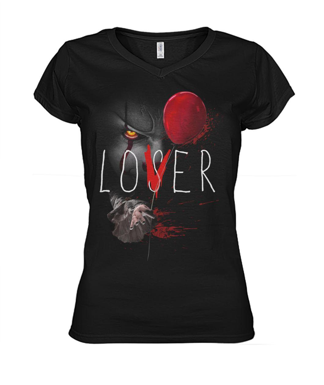 Pennywise It Lover Loser Halloween V-neck t-shirt