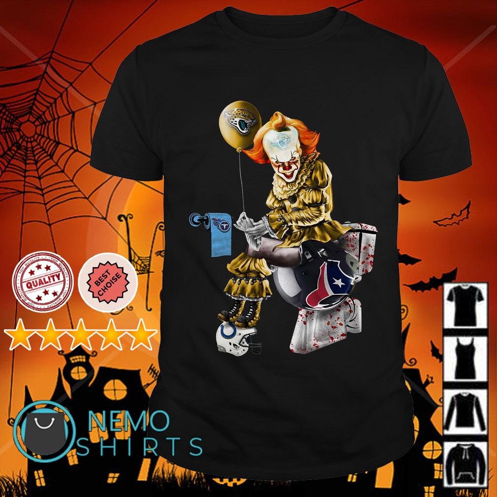 Pennywise Jaguars shit on Tennessee Titans trample on Texans helmet shirt