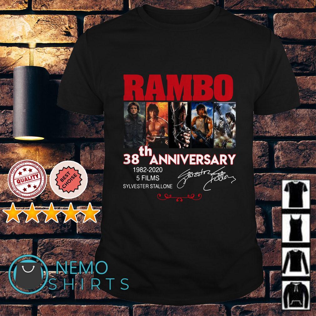 Rambo 38th Anniversary 1982 2020 Sylvester Stallone signature shirt