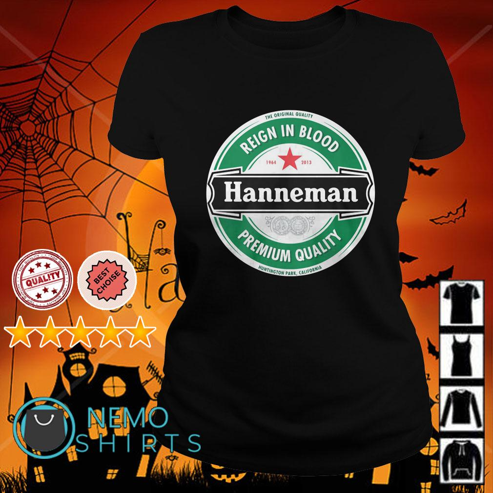 Reign in blood Hanneman premium quality Ladies tee