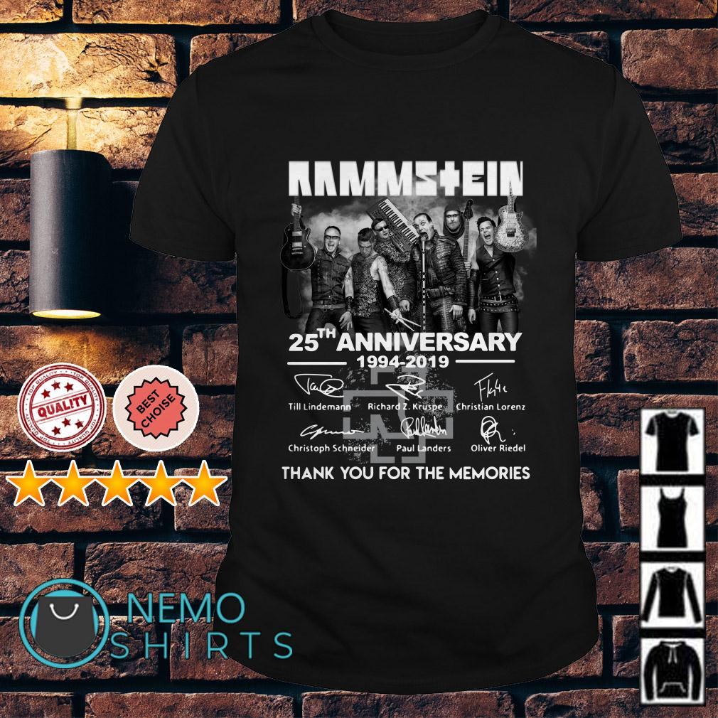 Rammstein 25th anniversary 1944 2019 signature thank you for the memories shirt
