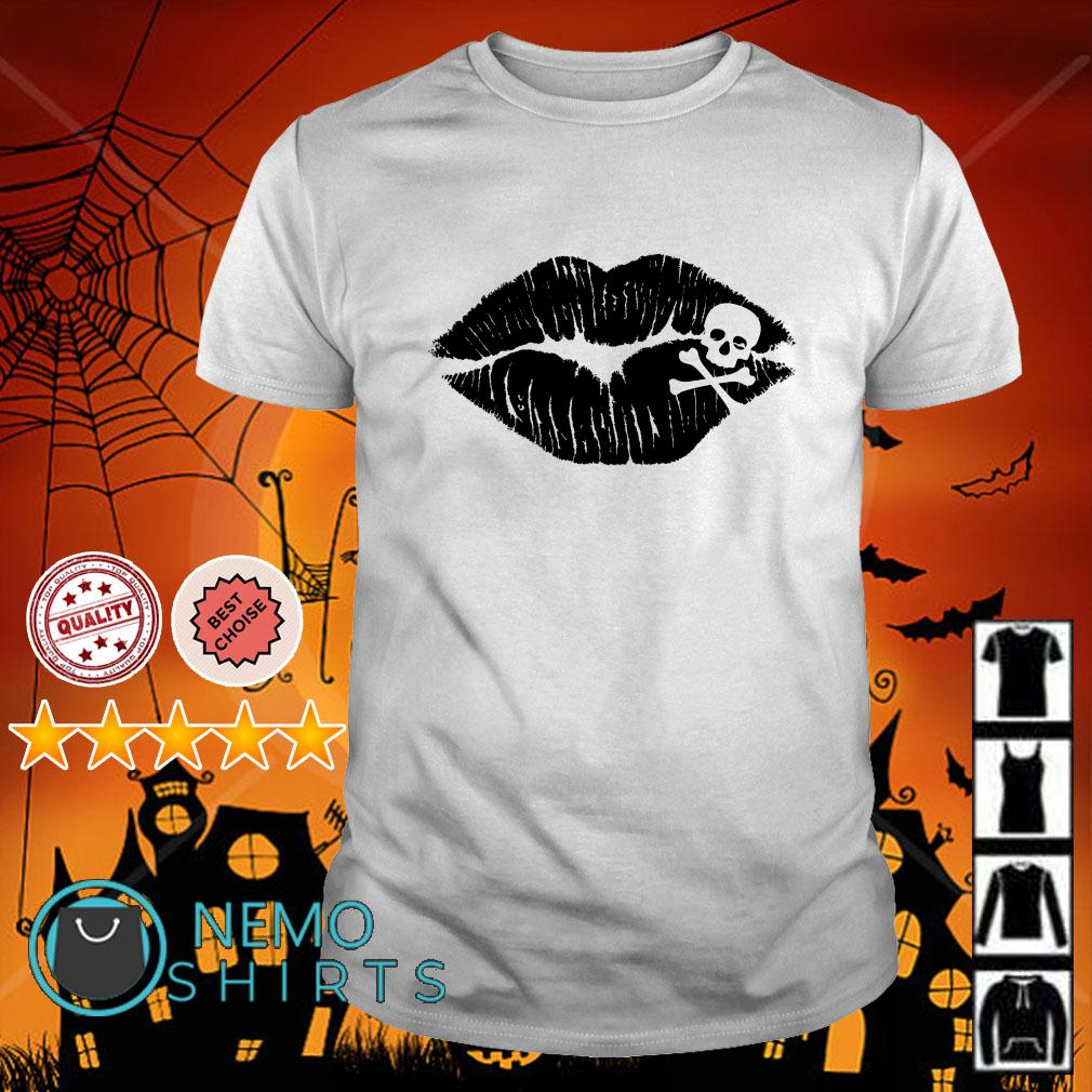 Skull Crossbones Lips shirt