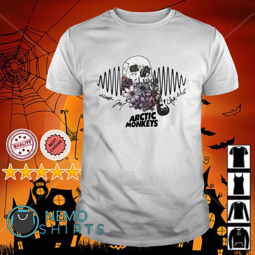 Skull guitar Arctic monkeys signature shirt
