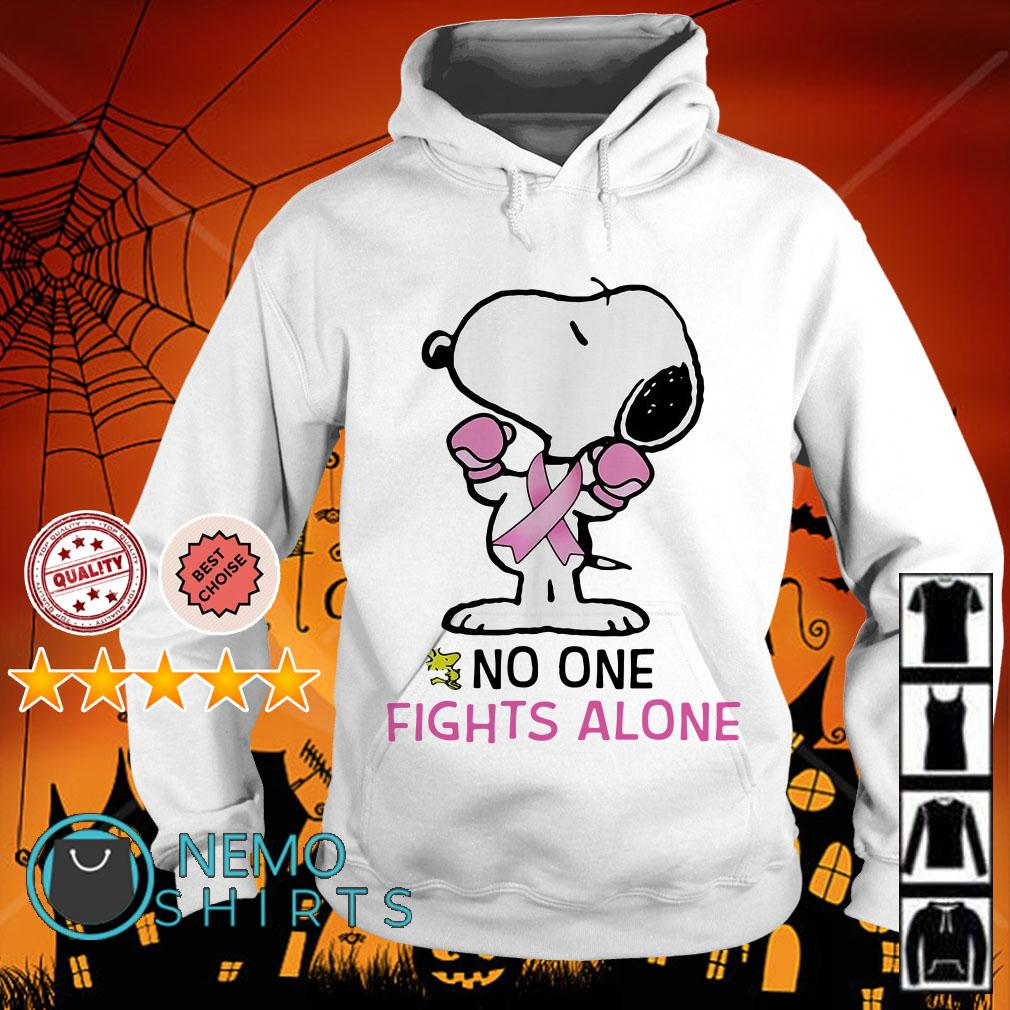 Snoopy Breast Cancer no one fights alone Hoodie