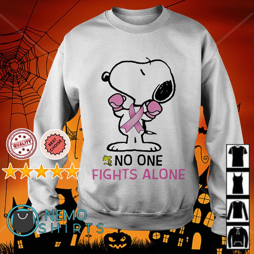 Snoopy Breast Cancer no one fights alone Sweater
