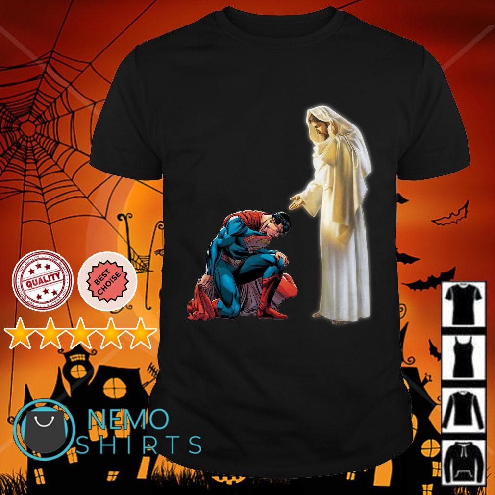 Superman keep your head down with Jesus shirt