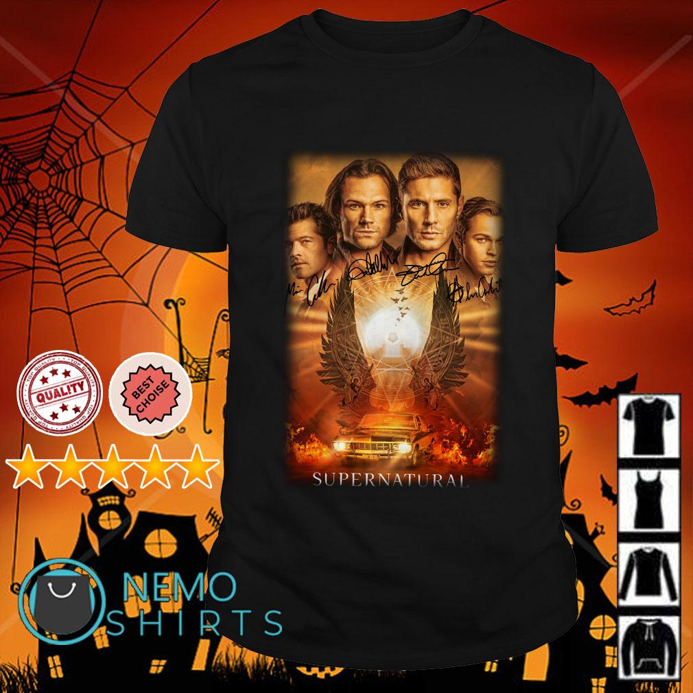 Supernatural characters signature shirt