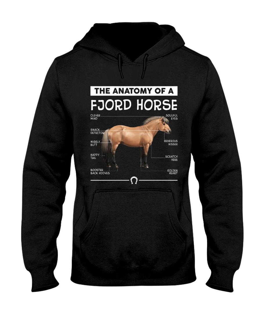 The anatomy of a Fjord horse Hoodie