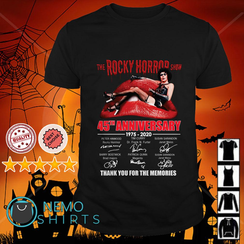 The Rocky Horror show 45th Anniversary thank you for the memories shirt