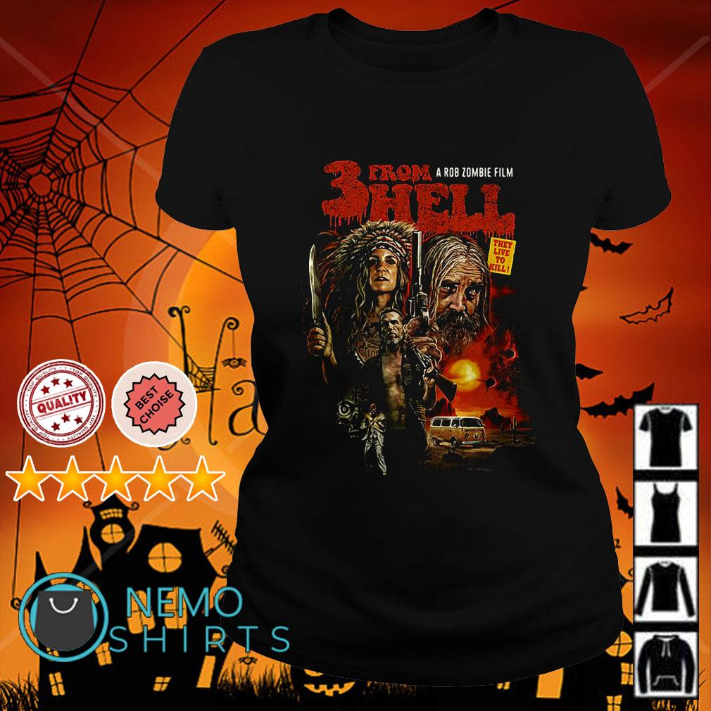 Three form hell a rob zombie film Ladies tee