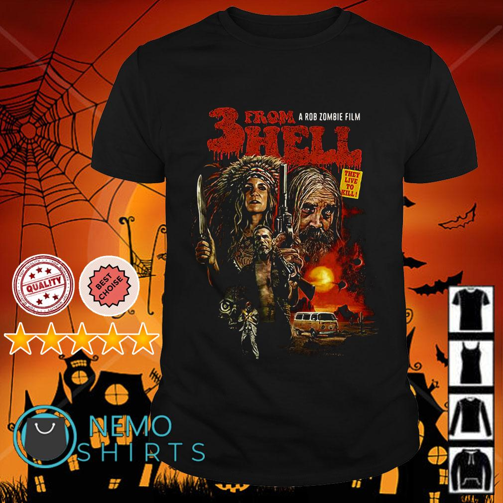 Three form hell a rob zombie film shirt