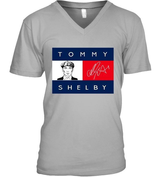 Tommy Shelby signature V-neck t-shirt