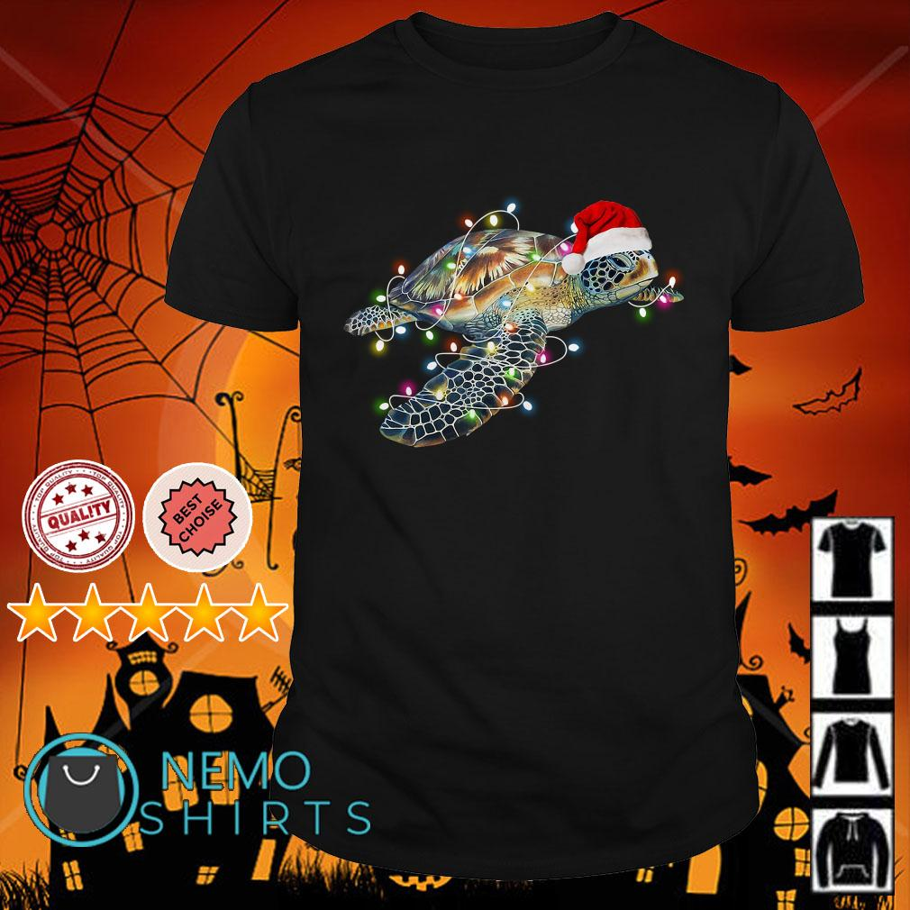 Turtle Christmas light shirt