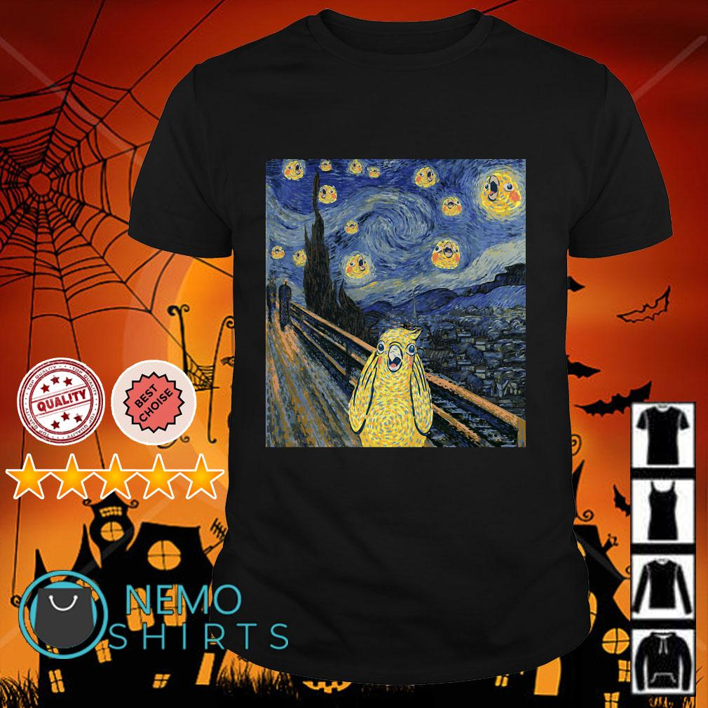 Vincent Van Gogh The Starry Night Bird shirt