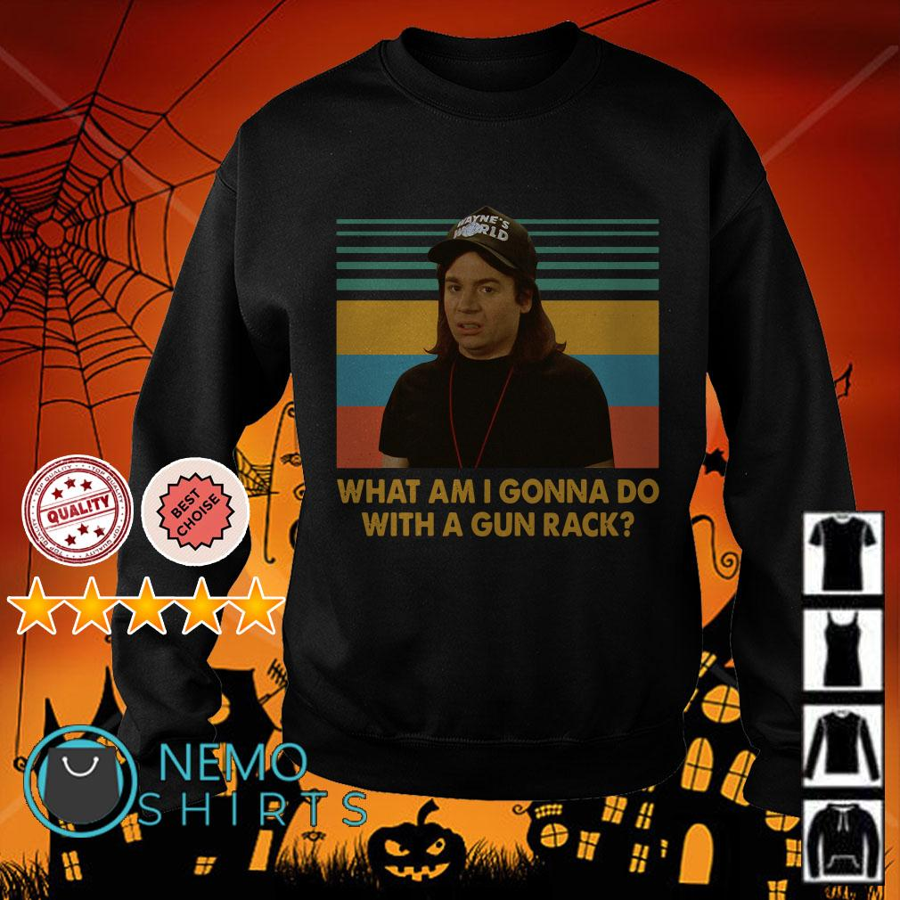 Wayne Campbell What am I gonna do with a gun rack Wayne's World retro Sweater