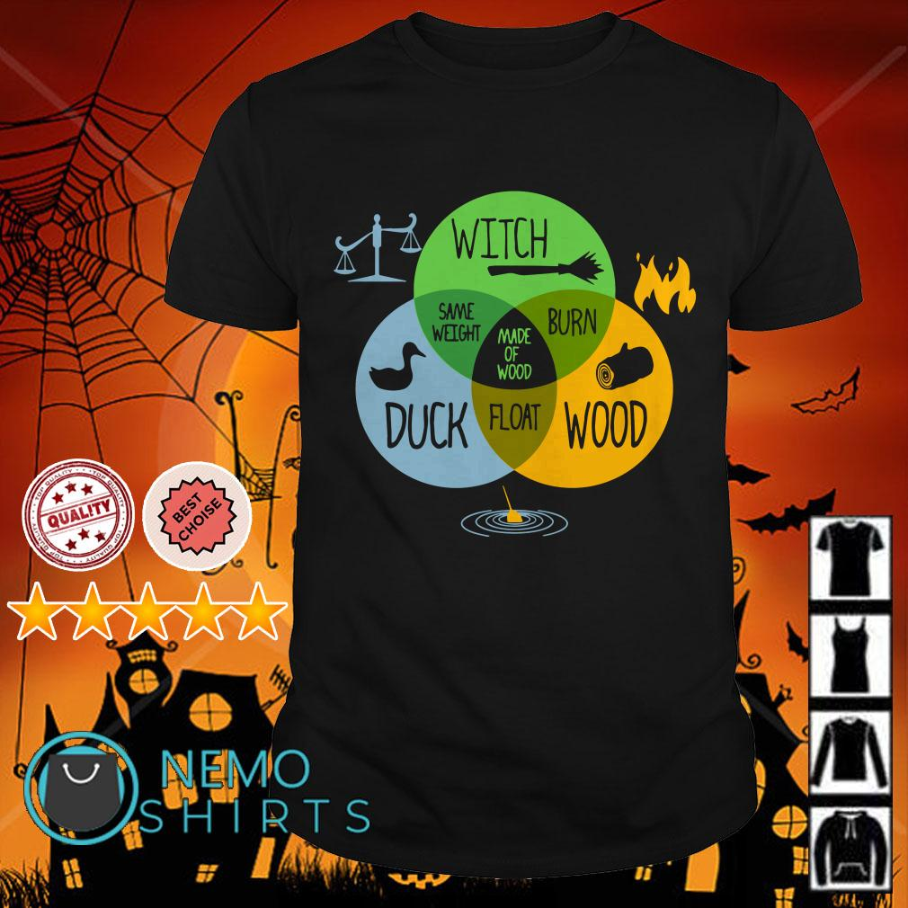 Witch Duck Wood Same Weight Made Of Wood Burn Float shirt