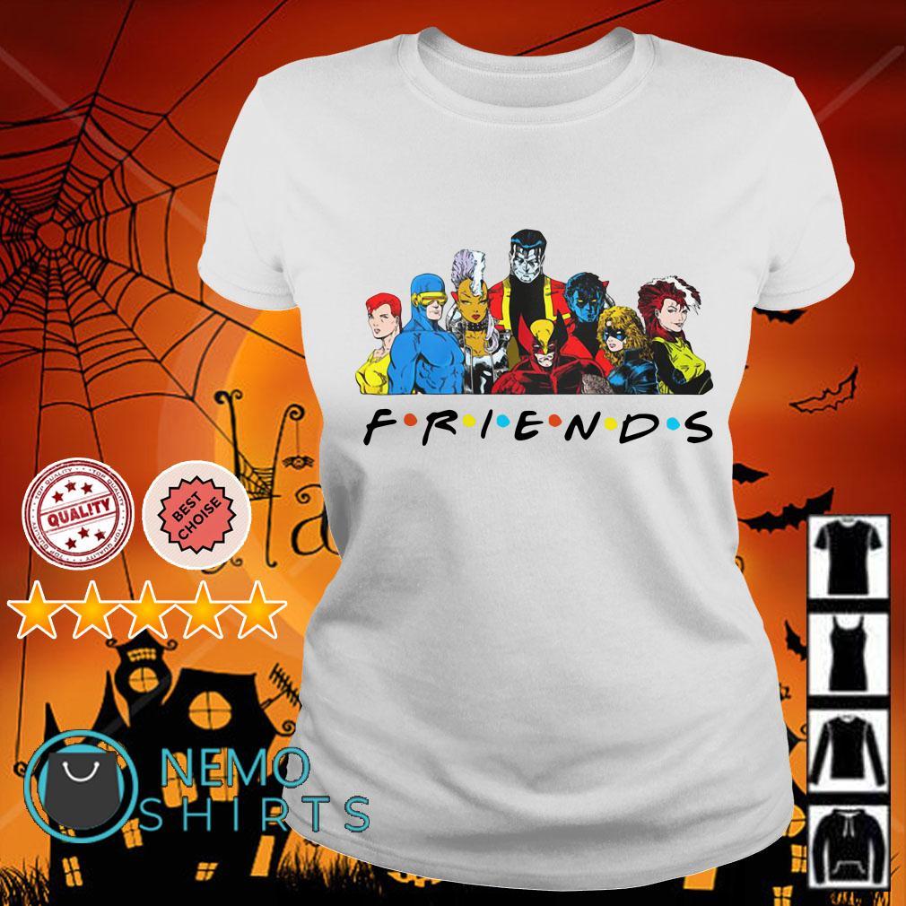 X-Men characters Friends Ladies tee
