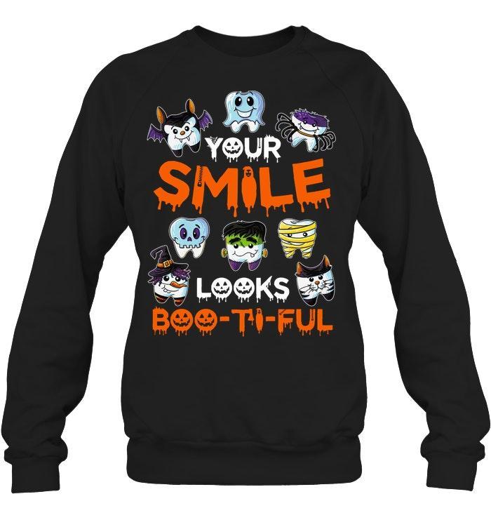 Your smile looks boo-ti-ful Halloween Sweater