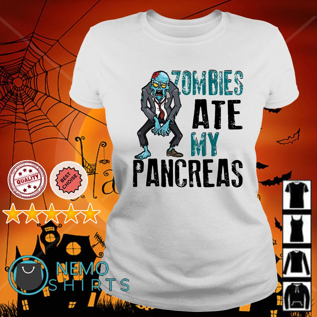 Zombies ate my pancreas type 1 diabetes Ladies tee