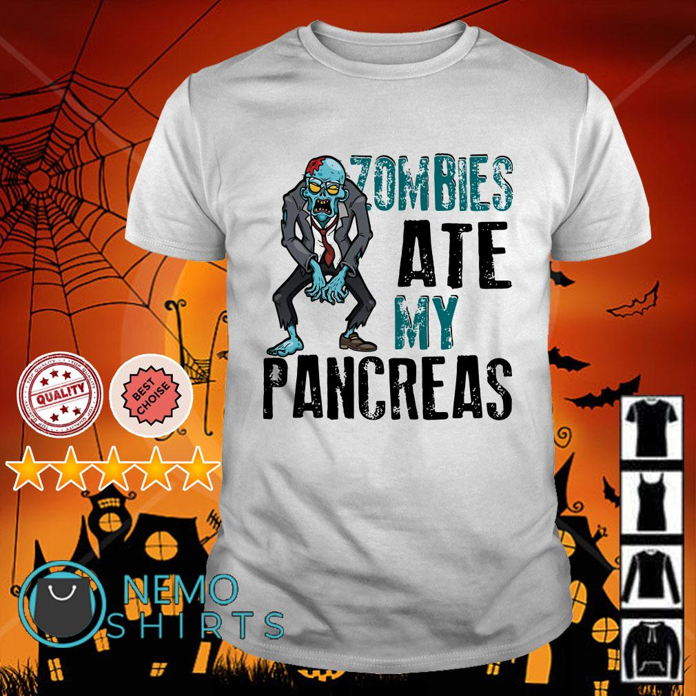 Zombies ate my pancreas type 1 diabetes shirt