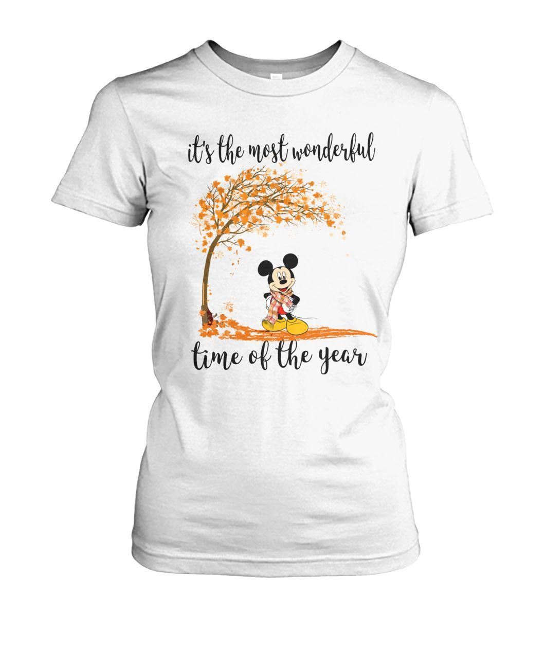 Mickey it's the most wonderful time of the year Ladies tee