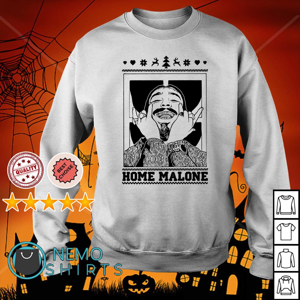 Post Malone Home Malone Ugly Christmas Sweater, Shirt, Hoodie