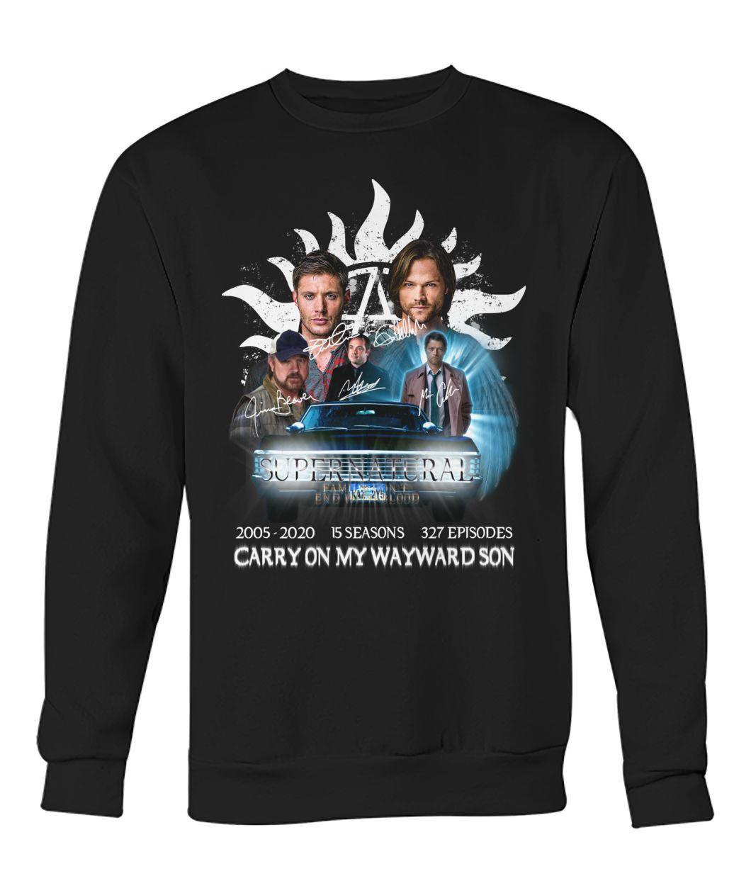 Supernatural 2005 2020 15 seasons 327 episodes Carry on my Wayward Son Sweater