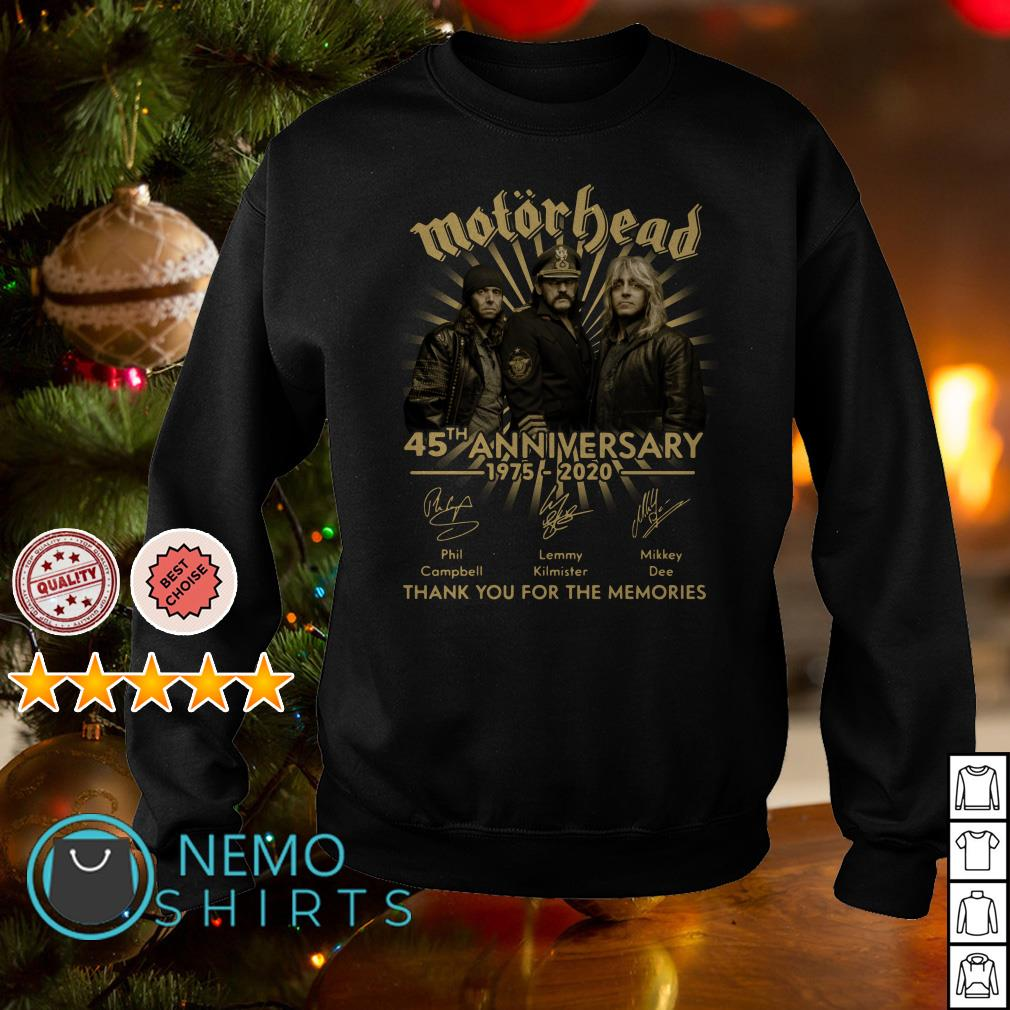 Motorhead 45th anniversary 1975 - 2020 thank you for the memories Sweater