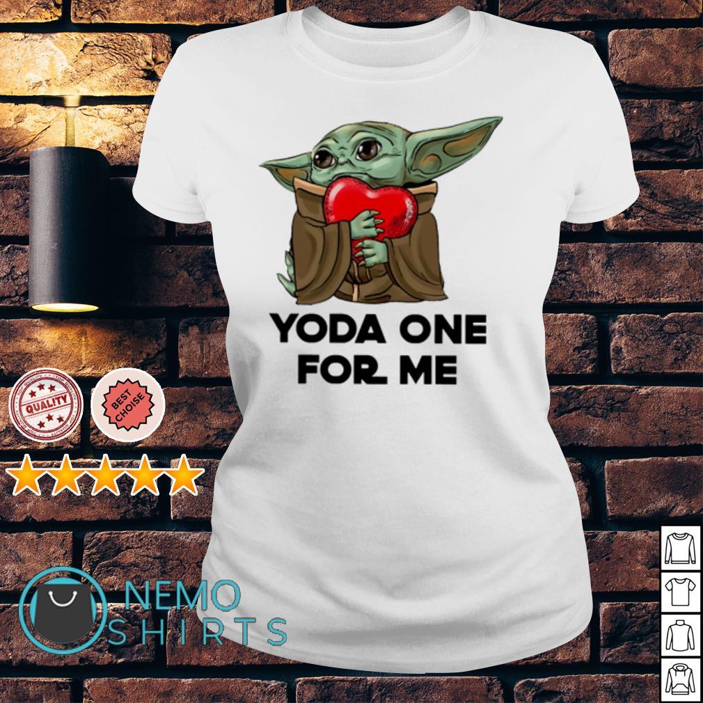 Starbucks baby Yoda one for me funny t-shirt ladies top White Mandalorian