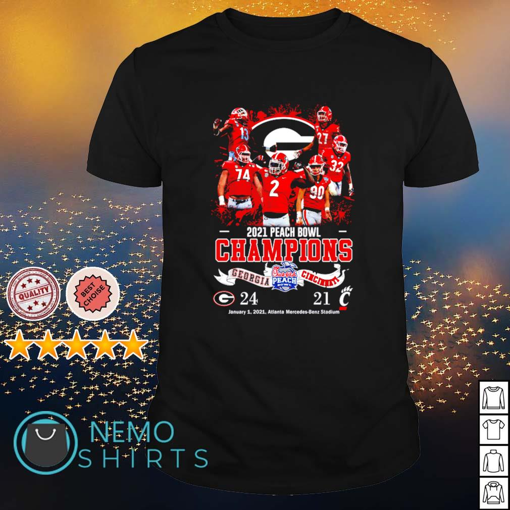 2021 peach bowl champions Georgia vs Cincinnati shirt