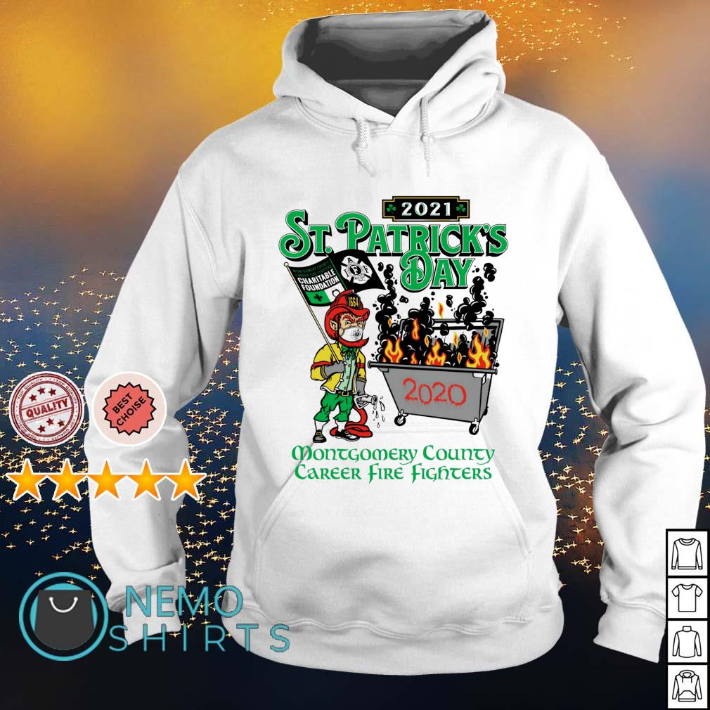 2021 St Patrick's Day montgomery county career firefighters s hoodie