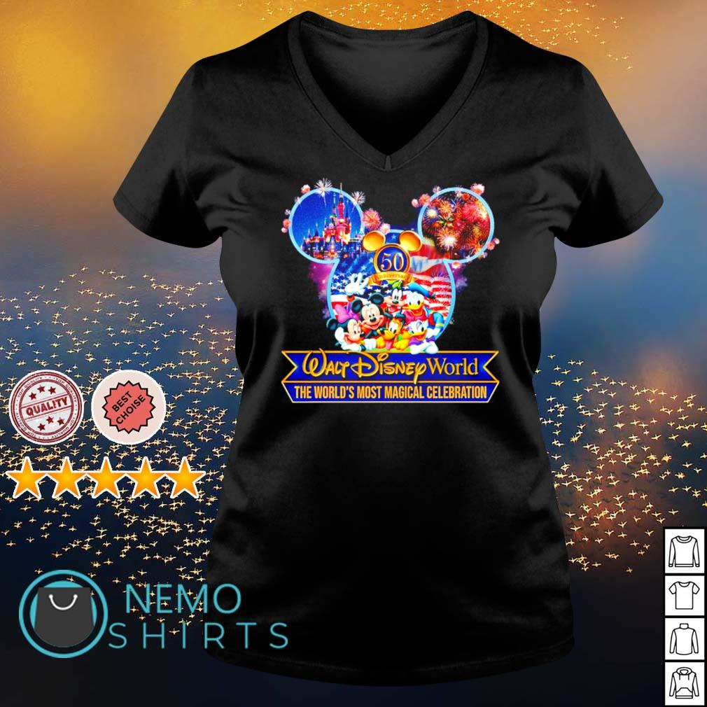 50th Anniversary Walt Disney World the world's most magical celebration s v-neck-t-shirt