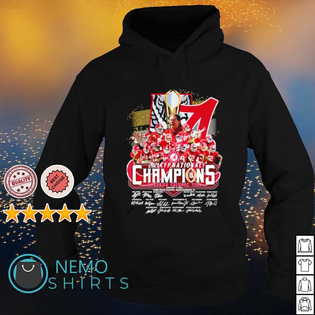 Alabama 2021 CFP national champions 18 time players signature s hoodie