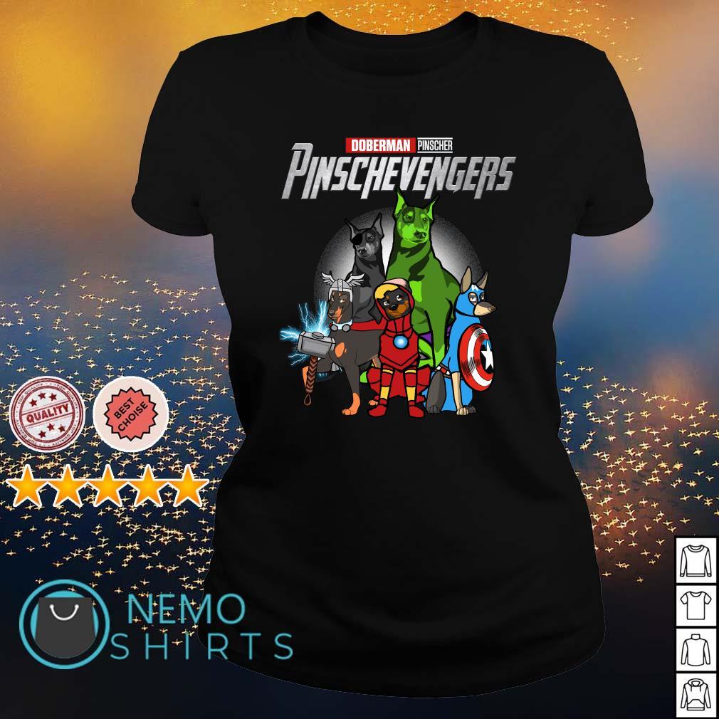 Avengers Doberman Pinscher Pinschevengers s ladies-tee