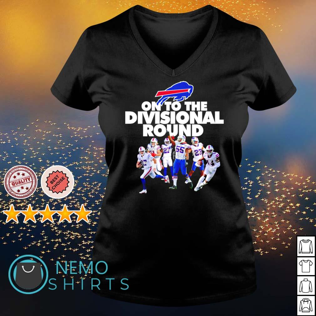 Buffalo Bills on to the divisional round s v-neck-t-shirt