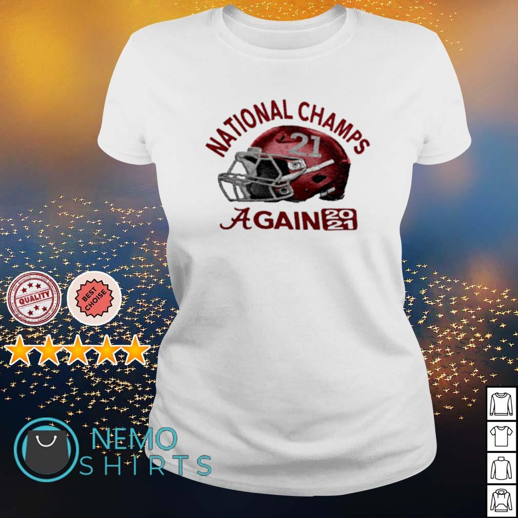 CFP national champs Alabama champions again 2021 s ladies-tee