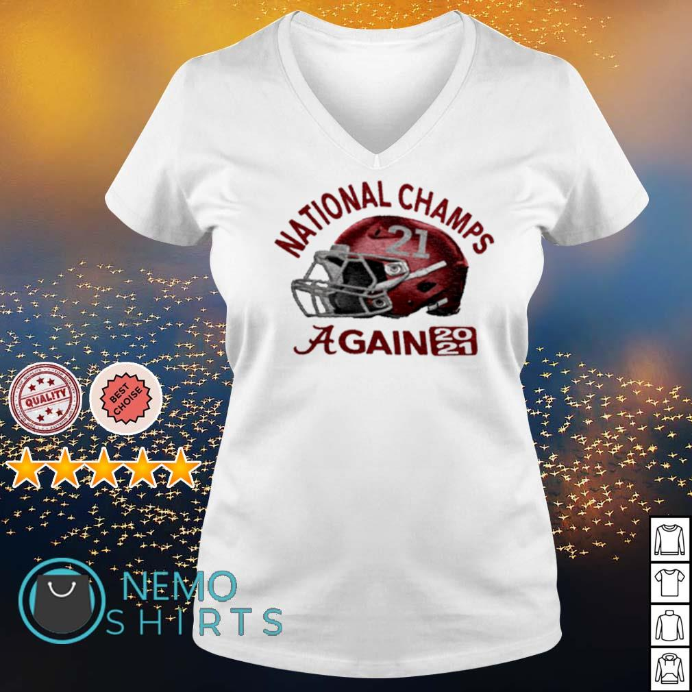 CFP national champs Alabama champions again 2021 s v-neck-t-shirt