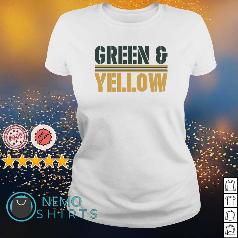 Green Bay Packers Green and Yellow s ladies-tee
