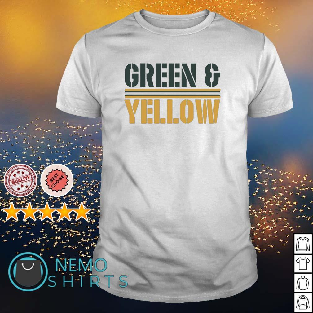 Green Bay Packers Green and Yellow shirt