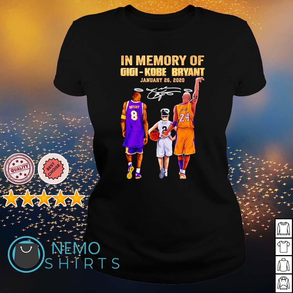 In memory of Gigi Kobe Bryant January 26 2020 s ladies-tee